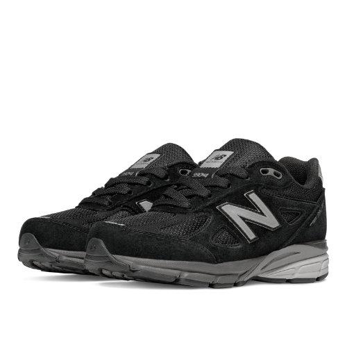 New Balance 990v4 Kids Pre-School Running Shoes - Black (KJ990BSP)