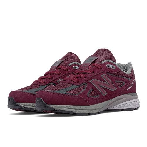 New Balance 990v4 Kids Grade School Running Shoes - Red (KJ990BYG)
