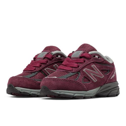 New Balance 990v4 Kids Infant Running Shoes - Red (KJ990BYI)
