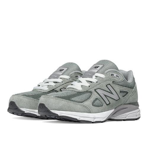 New Balance 990v4 Kids Pre-School Running Shoes - Grey (KJ990GLP)
