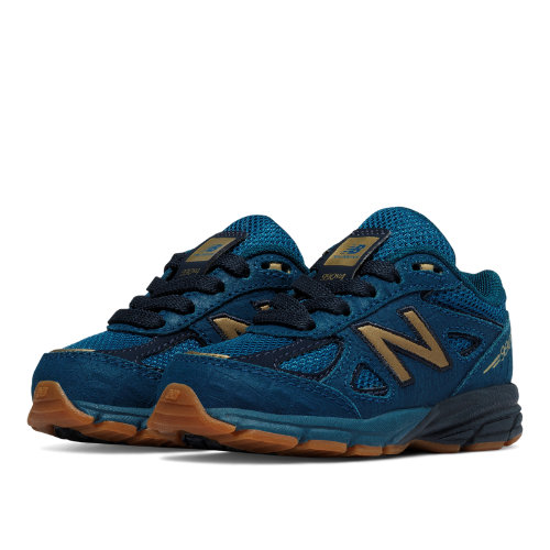 New Balance 990v4 Kids Infant Running Shoes - Blue (KJ990JGI)