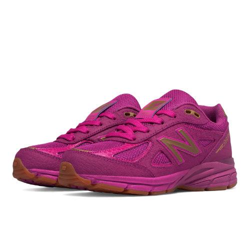 New Balance 990v4 Kids Grade School Running Shoes - Purple (KJ990JJG)