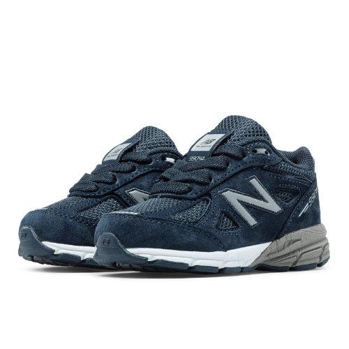 New Balance 990v4 Kids Infant Running Shoes - Navy (KJ990NBI)