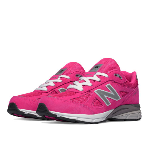 New Balance 990v4 Kids Grade School Running Shoes - Pink (KJ990PEG)