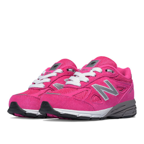 New Balance 990v4 Kids Infant Running Shoes - Pink (KJ990PEI)