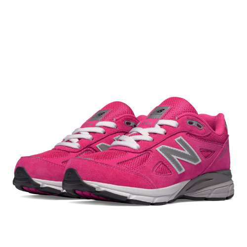 New Balance 990v4 Kids Pre-School Running Shoes - Pink (KJ990PEP)