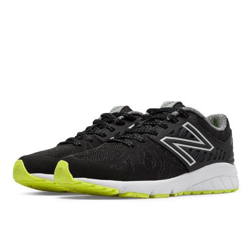 New Balance Vazee Rush Kids Pre-School Running Shoes - Black / Yellow (KJRUSBKP)