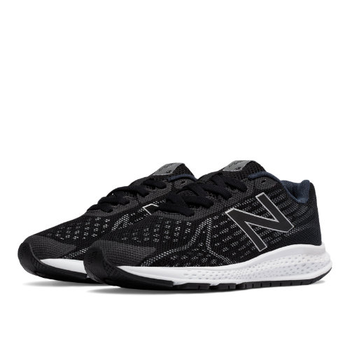 New Balance Vazee Rush v2 Kids Grade School Running Shoes - Black / Silver (KJRUSBSG)