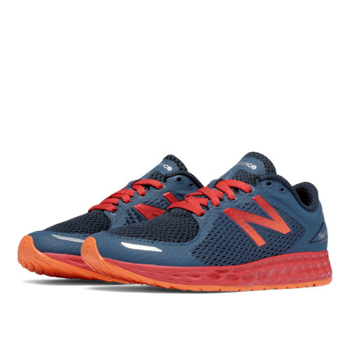 New Balance Fresh Foam Zante v2 Kids Grade School Running Shoes - Grey / Red (KJZNTDBY)