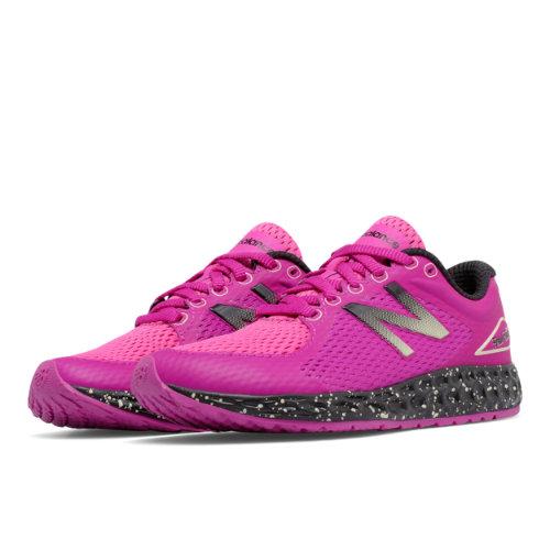 New Balance Fresh Foam Zante v2 Kids Grade School Running Shoes - Pink / Black (KJZNTPSY)