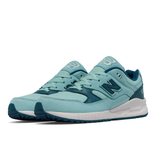New Balance 530 Canvas Wax Kids Grade School Lifestyle Shoes - Blue (KL530STG)