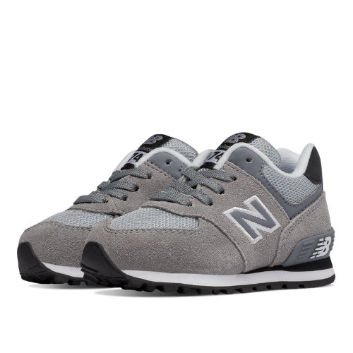 New Balance 574 Kids Infant Lifestyle Shoes - Grey / Black (KL574CII)