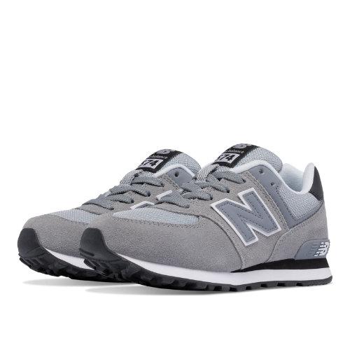 New Balance 574 Kids Pre-School Lifestyle Shoes - Grey / Black (KL574CIP)