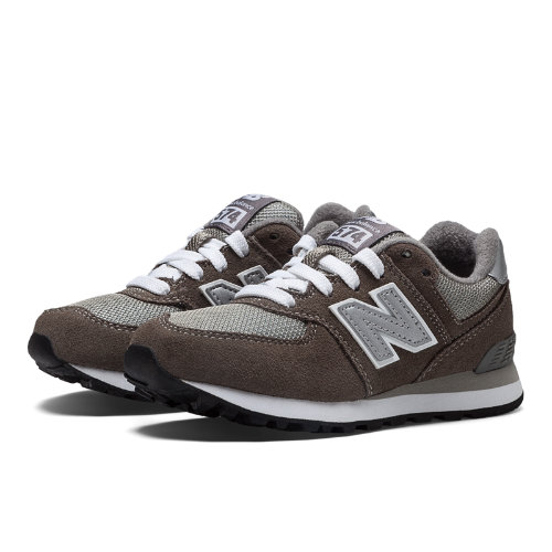 New Balance 574 Kids Pre-School Lifestyle Shoes - Grey / White (KL574GSP)