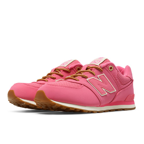 New Balance 574 Heritage Sport Kids Pre-School Lifestyle Shoes - Pink (KL574HKP)
