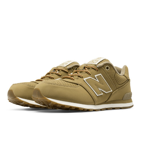 New Balance 574 Heritage Sport Kids Grade School Lifestyle Shoes - Tan (KL574HTG)