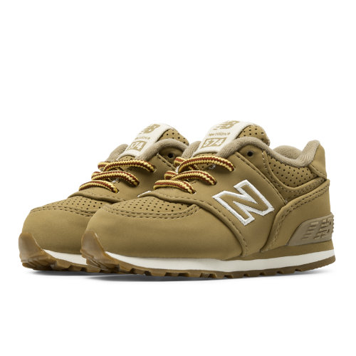 New Balance 574 Heritage Sport Kids Infant Lifestyle Shoes - Tan (KL574HTI)
