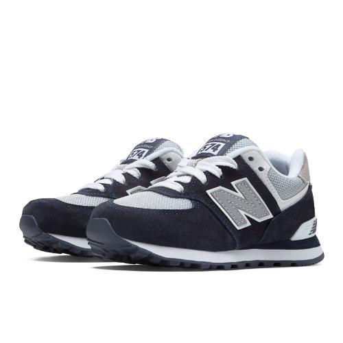 New Balance 574 Kids Pre-School Lifestyle Shoes - Navy / Grey / White (KL574NWP)