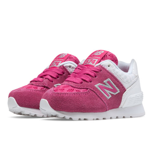 New Balance 574 Breathe Kids Infant Lifestyle Shoes - Pink / White (KL574QPI)
