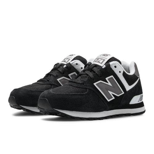 New Balance 574 Kids Pre-School Lifestyle Shoes - Black / White / Grey (KL574SKP)