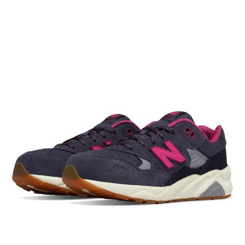 New Balance 580 Wanderlust Kids Grade School Lifestyle Shoes - Grey / Pink (KL580WPG)
