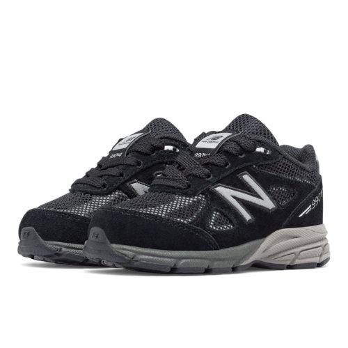 New Balance Reflective 990v4 Kids Infant Running Shoes - Black / Silver (KL990L1I)