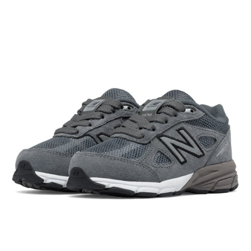 New Balance Reflective 990v4 Kids Infant Running Shoes - Grey / Silver (KL990L2I)