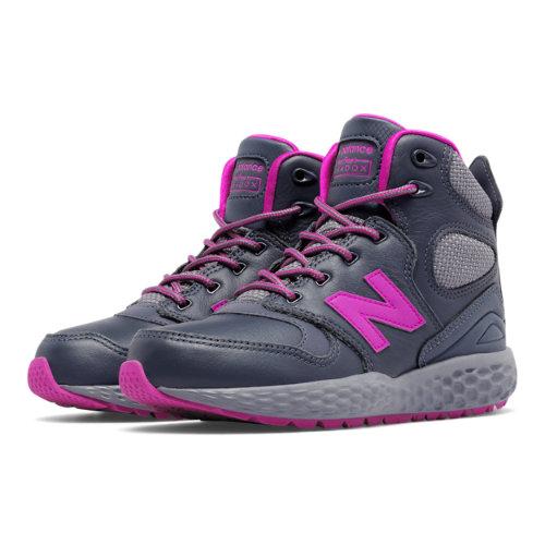 New Balance Fresh Foam Paradox Kids Pre-School Lifestyle Shoes - Grey / Pink (KLPXBGPP)