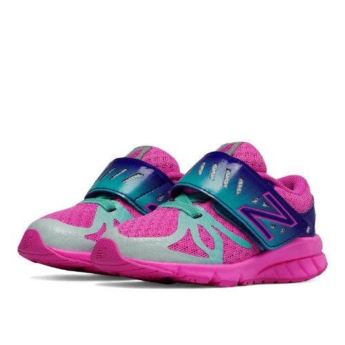New Balance Hook and Loop 200 Kids Infant Running Shoes - Pink / Green / Purple (KV200WPI)