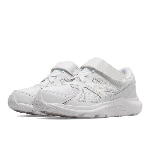 New Balance 690v4 Kids Pre-School Running Shoes - White (KV690TWP)