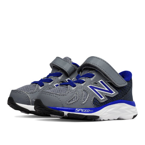 New Balance Hook and Loop 790v6 Kids Infant Running Shoes - Grey / Blue (KV790GMI)