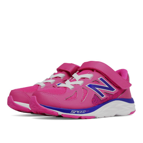 New Balance Hook and Loop 790v6 Kids Pre-School Running Shoes - Pink / Purple (KV790PIP)