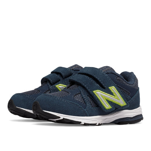 New Balance Hook and Loop 888 Kids Infant Running Shoes - Navy / Yellow (KV888BOI)