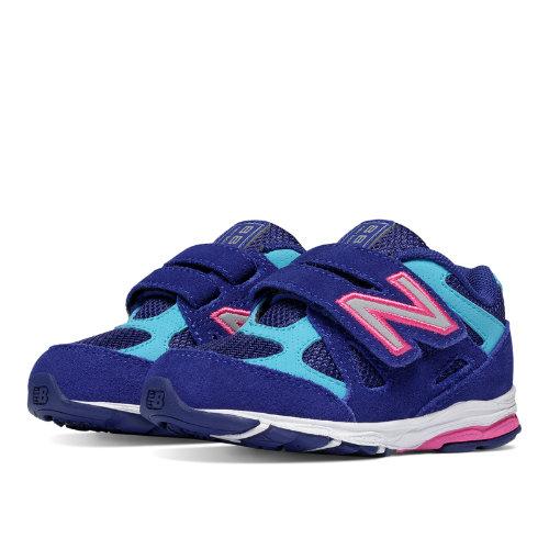 New Balance Hook and Loop 888 Kids Infant Running Shoes - Blue / Pink (KV888BPI)
