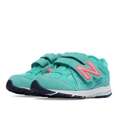 New Balance Hook and Loop 888 Kids Infant Running Shoes - Green / Pink (KV888GGI)