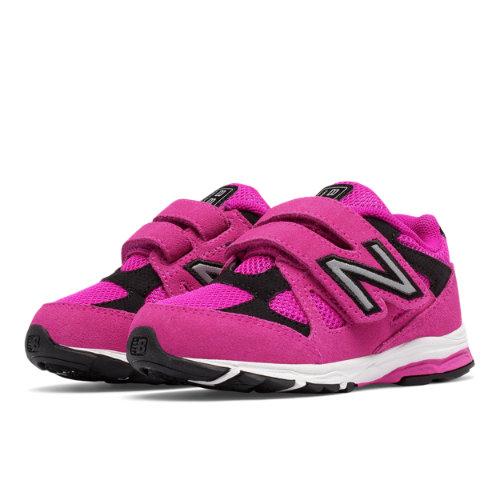 New Balance Hook and Loop 888 Kids Infant Running Shoes - Pink / Black (KV888PBI)