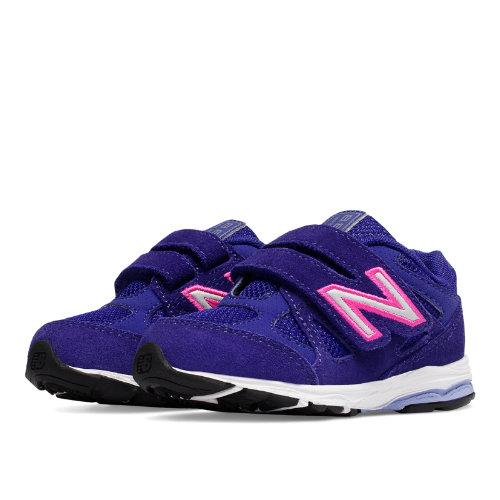 New Balance Hook and Loop 888 Kids Infant Running Shoes - Purple / Pink (KV888PPI)