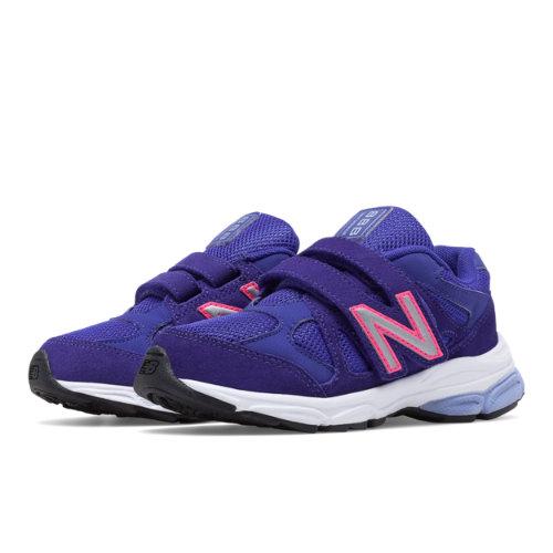 New Balance Hook and Loop 888 Kids Pre-School Running Shoes - Purple / Pink (KV888PPP)