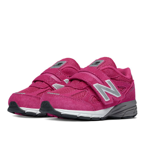 New Balance Hook and Loop 990v4 Kids Infant Running Shoes - Pink (KV990PEI)