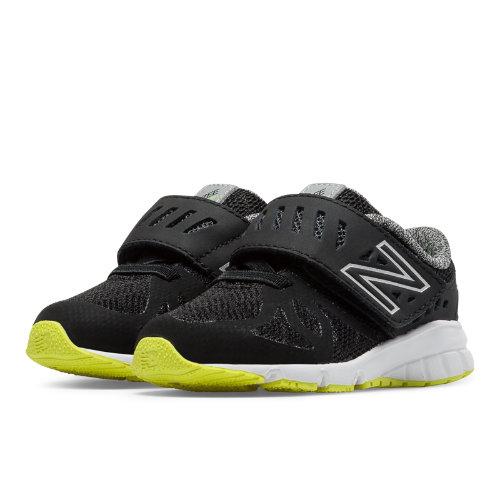 New Balance Vazee Rush Kids Infant Running Shoes - Black / Yellow (KVRUSBKI)