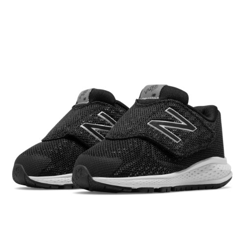 New Balance Hook and Loop Vazee Rush v2 Kids Infant Running Shoes - Black / Silver (KVRUSBSI)