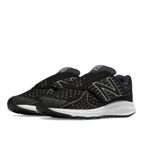 New Balance Hook and Loop Vazee Rush v2 Kids Pre-School Running Shoes - Black / Silver (KVRUSBSP)