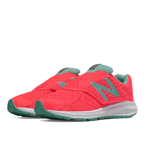 New Balance Hook and Loop Vazee Rush v2 Kids Pre-School Running Shoes - Pink / Green (KVRUSGPP)