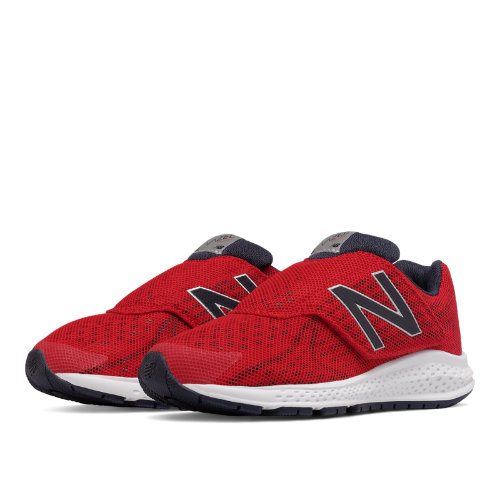 New Balance Hook and Loop Vazee Rush v2 Kids Pre-School Running Shoes - Red (KVRUSRYP)