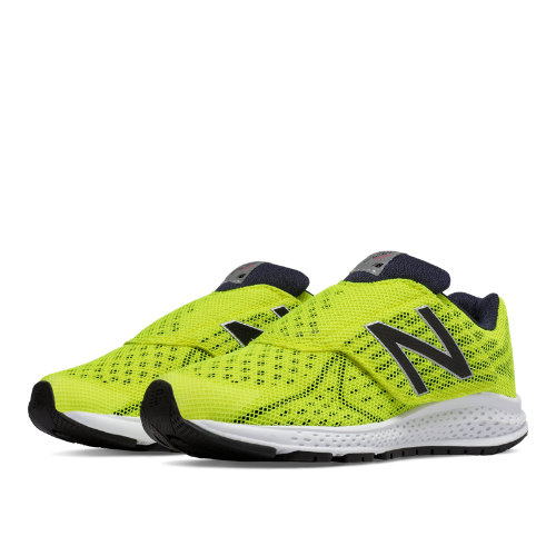 New Balance Hook and Loop Vazee Rush v2 Kids Pre-School Running Shoes - Yellow / Black (KVRUSYBP)