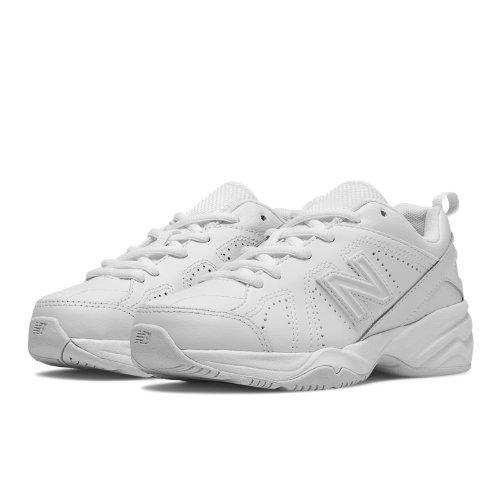 New Balance 624v2 Kids Grade School Cross-Training Shoes - White (KX624WTY)