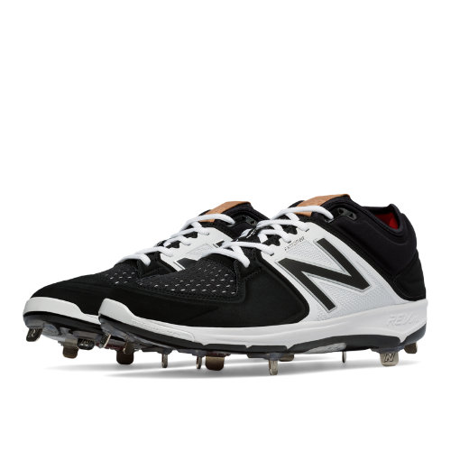 New Balance Low-Cut 3000v3 Metal Cleat Men's Shoes - Black / White (L3000BK3)