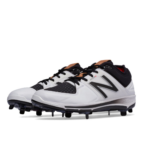 New Balance Low-Cut 3000v3 Hero Pack Metal Cleat Men's Shoes - White / Black (L3000HC3)