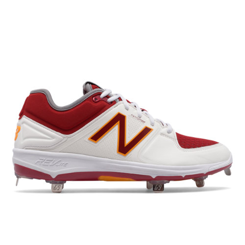New Balance Low-Cut 3000v3 Coumarin Pack Men's Low-Cut Cleats Shoes - White / Red / Orange (L3000MW3)