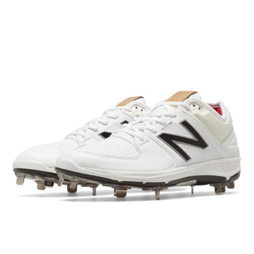 New Balance Low-Cut 3000v3 Metal Cleat Men's Low-Cut Cleats Shoes - White (L3000SW3)